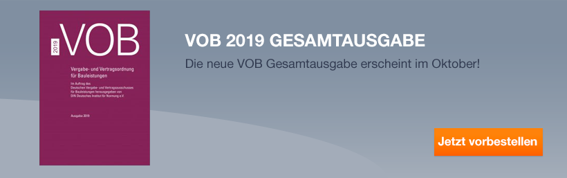 VOB 2019 Gesamtausgabe vorbestellen!
